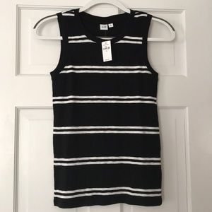GAP Black & White Striped Softspun Tank